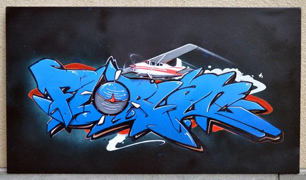 Graffiti d un pr nom sur toile th me avion fribourgchambre graffiti dans toute la suisse - Graffiti prenom gratuit ...