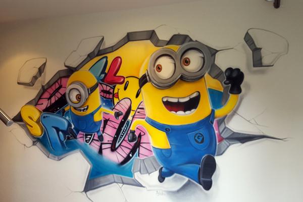 Graffiti zurich minions chambre graffiti dans toute la suissechambre graffiti dans toute la - Les minions amoureux ...